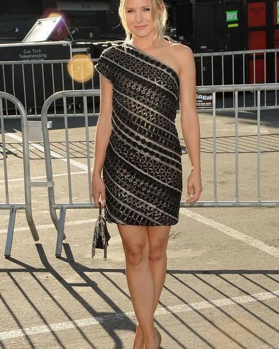 Kristen Bell Poster featuring the photograph Kristen Bell Wearing An Etro Dress by Everett