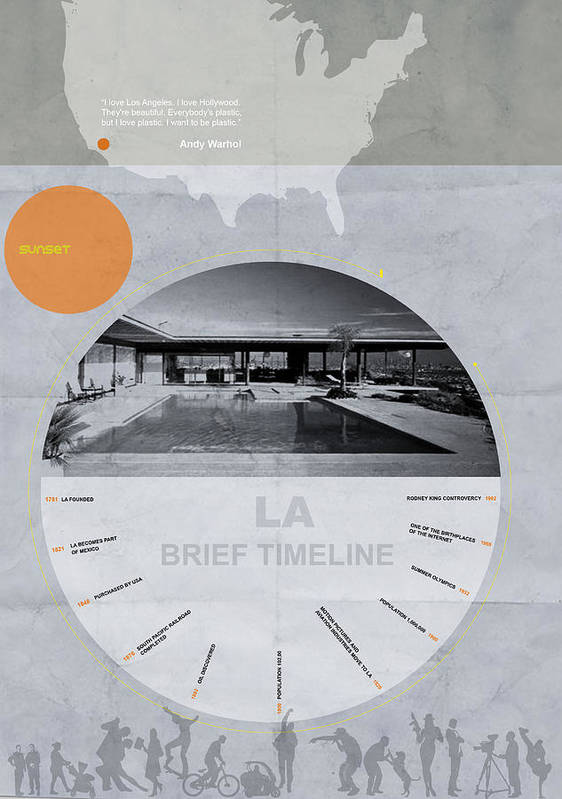 Poster featuring the digital art La Poster by Naxart Studio