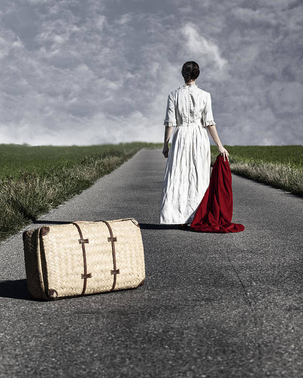 Female Poster featuring the photograph Lady On The Road by Joana Kruse