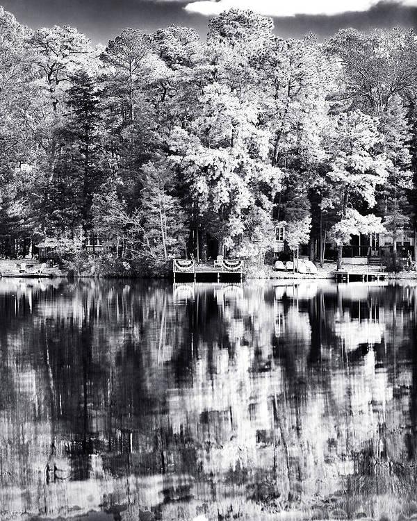 Lake Drama Poster featuring the photograph Lake Drama by John Rizzuto