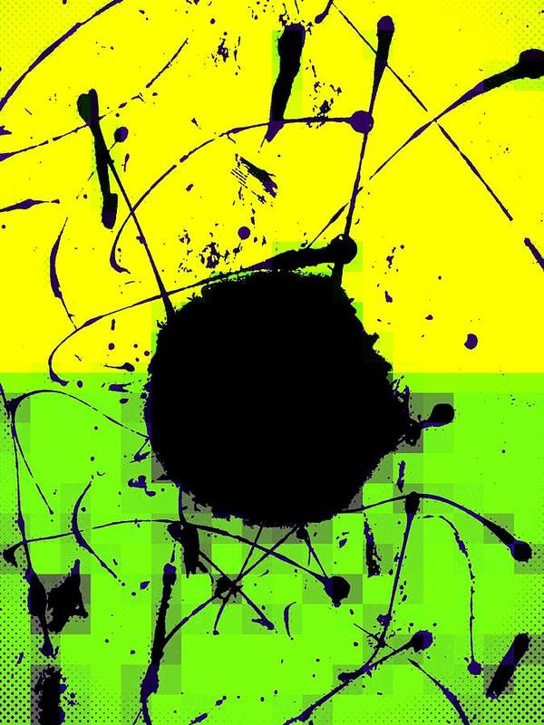 Abstract Poster featuring the digital art Land Mines by Joseph Ferguson