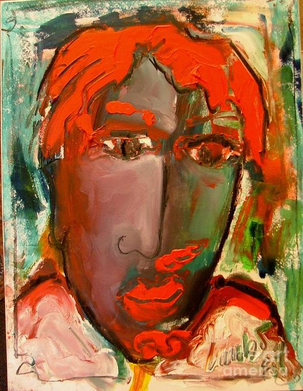 Adele Poster featuring the painting Laubar Face Adele by Laurens Barnard