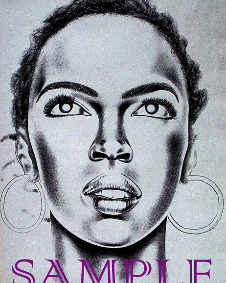 Portraits Poster featuring the drawing Lauren Hill by Rick Hill