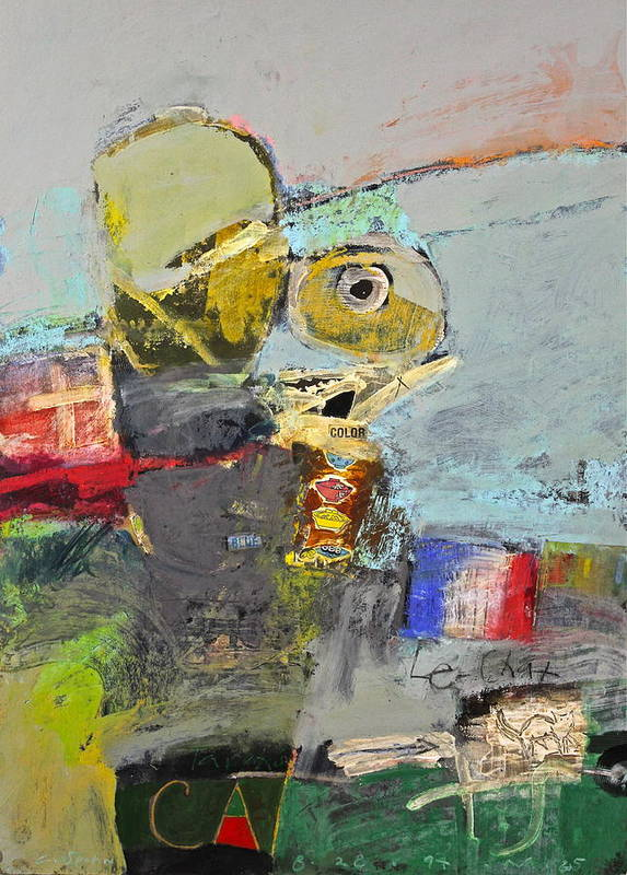 Abstract Painting Poster featuring the painting Le Chat by Cliff Spohn