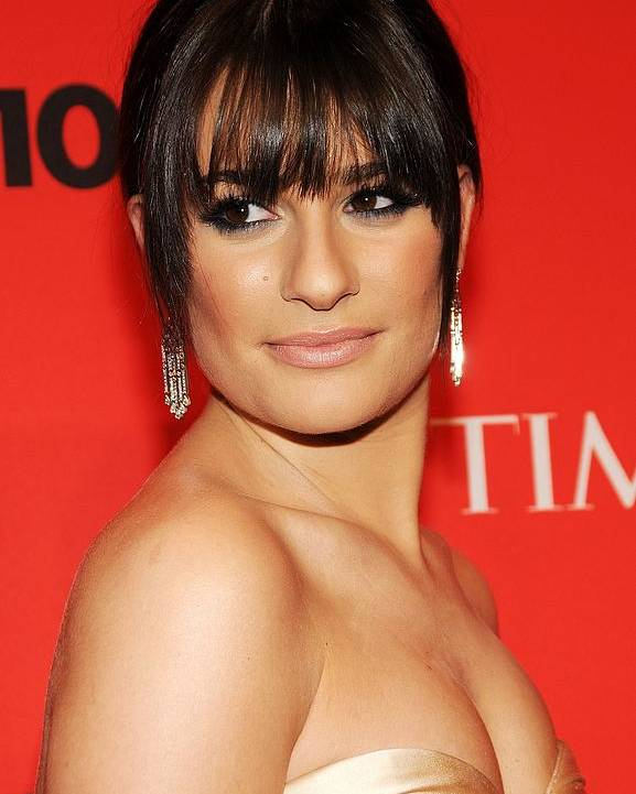 Lea Michele Poster featuring the photograph Lea Michele At Arrivals For Time 100 by Everett