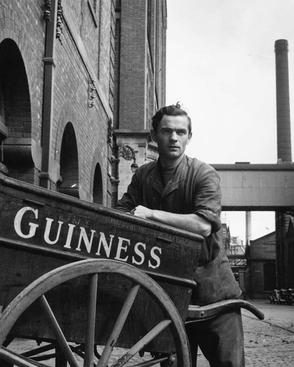 Adult Poster featuring the photograph Leaning On Barrow by Bert Hardy