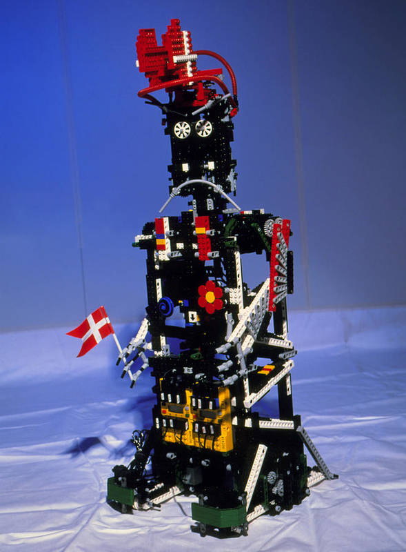 Robot Poster featuring the photograph Lego Humanoid Robot Known As Elektra by Volker Steger
