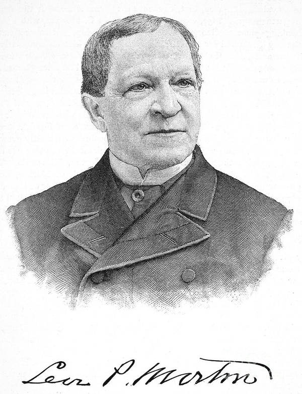 19th Century Poster featuring the photograph Levi Parsons Morton by Granger