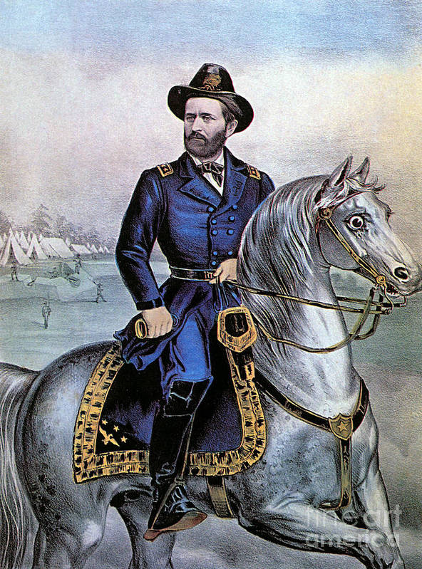History Poster featuring the photograph Lieutenant General Ulysses S Grant by Photo Researchers