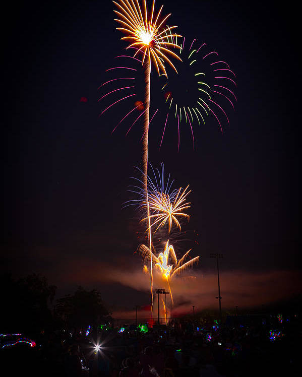 4th Of July Poster featuring the photograph Light Up The Night by David Hahn