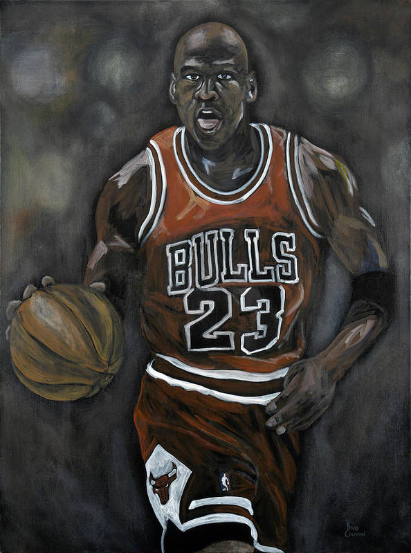 Michael Jordan Poster featuring the painting Like Mike by Brad Coleman