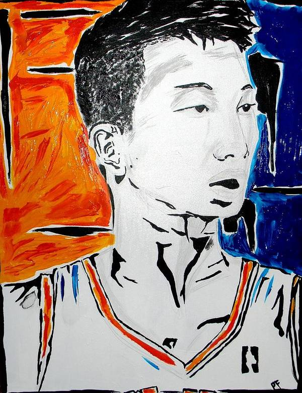 Jeremy Poster featuring the painting Lin by Patrick Ficklin