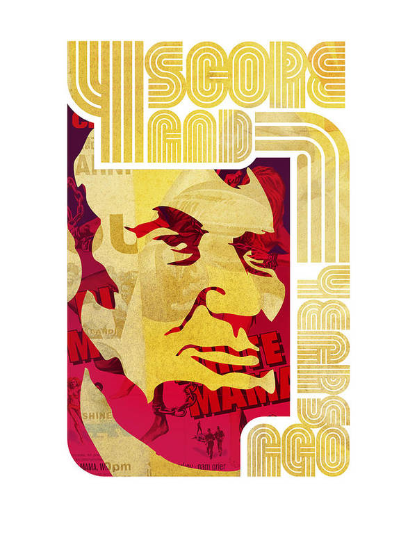 Typography Poster featuring the digital art Lincoln 4 Score On White by Jeff Steed