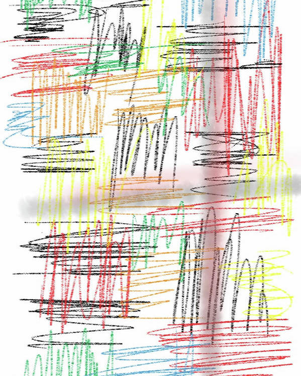 Abstract Poster featuring the photograph Lines by Michael Farris
