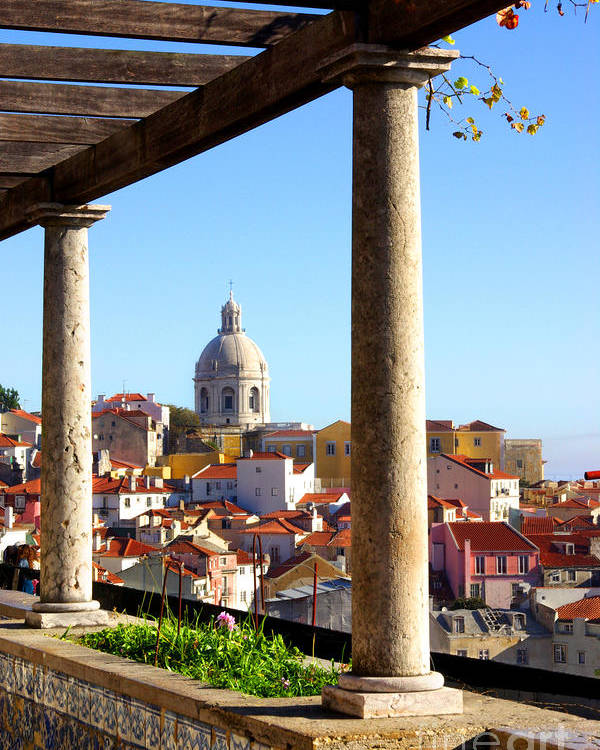Alfama Poster featuring the photograph Lisbon View by Carlos Caetano