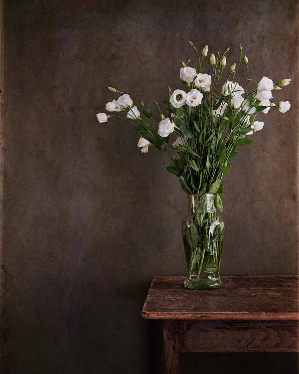 Vertical Poster featuring the photograph Lisianthus Flowers by Paul Grand Image