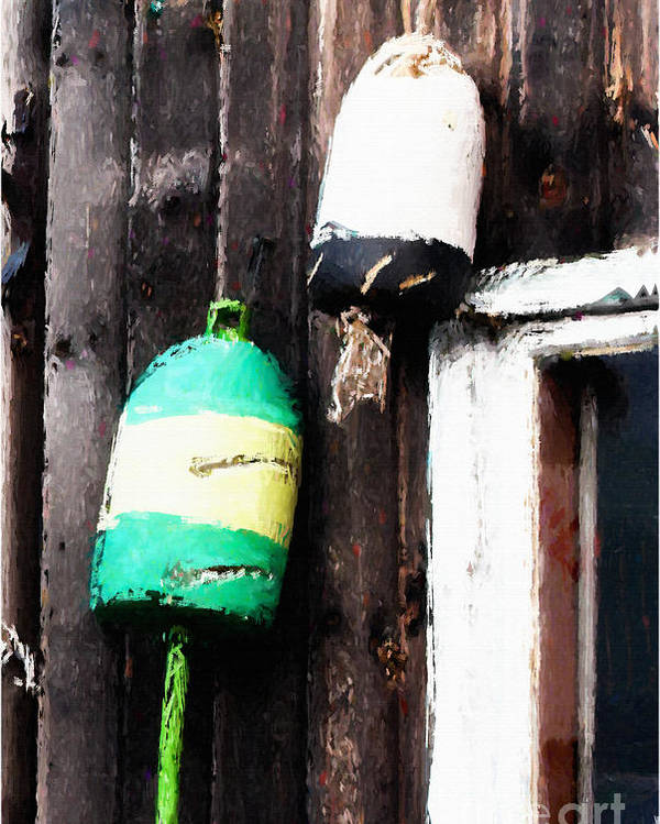 Lobster Buoys Poster featuring the photograph Lobster Buoys by Betty LaRue