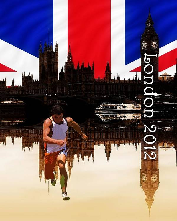 London 2012 Poster featuring the photograph London Olympics by Sharon Lisa Clarke