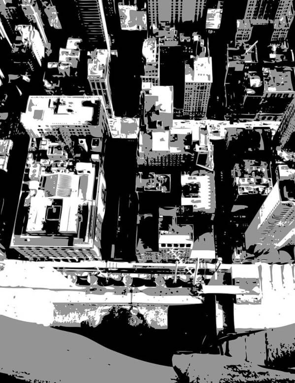 Empire State Building Poster featuring the photograph Looking Down Bw3 by Scott Kelley