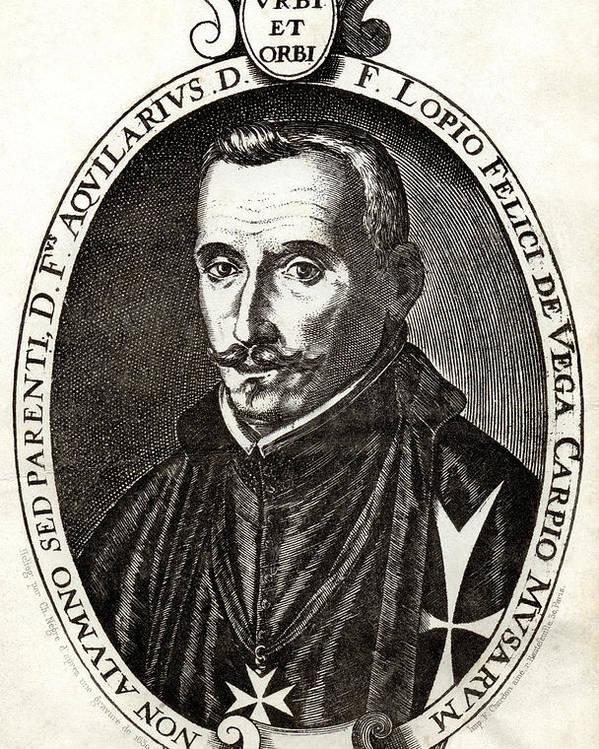 Felix Lope De Vega Carpio Poster featuring the photograph Lope De Vega, Spanish Playwright by