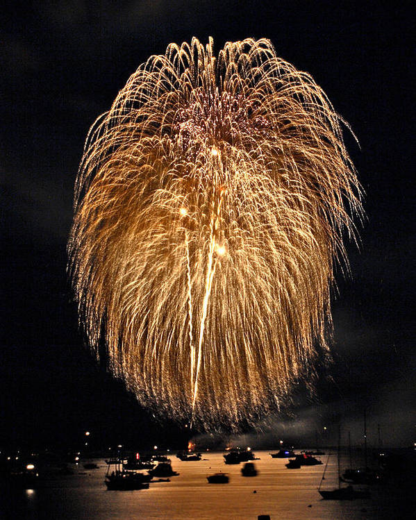 4th Of July Poster featuring the photograph Lopez Island Fireworks 1 by David Salter