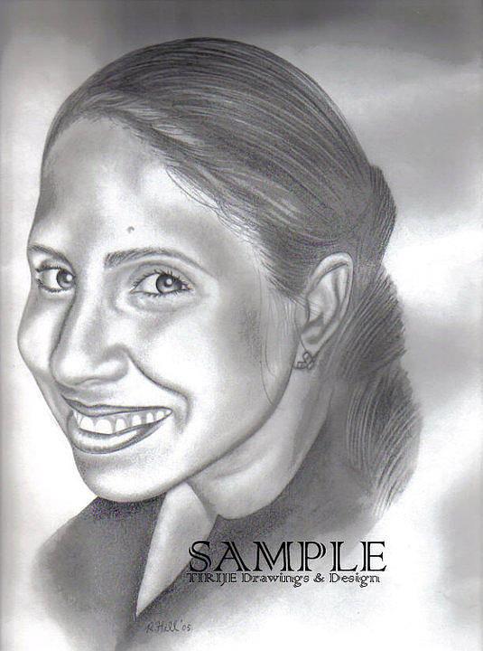 Portraits Poster featuring the drawing Lorna Villanueva by Rick Hill