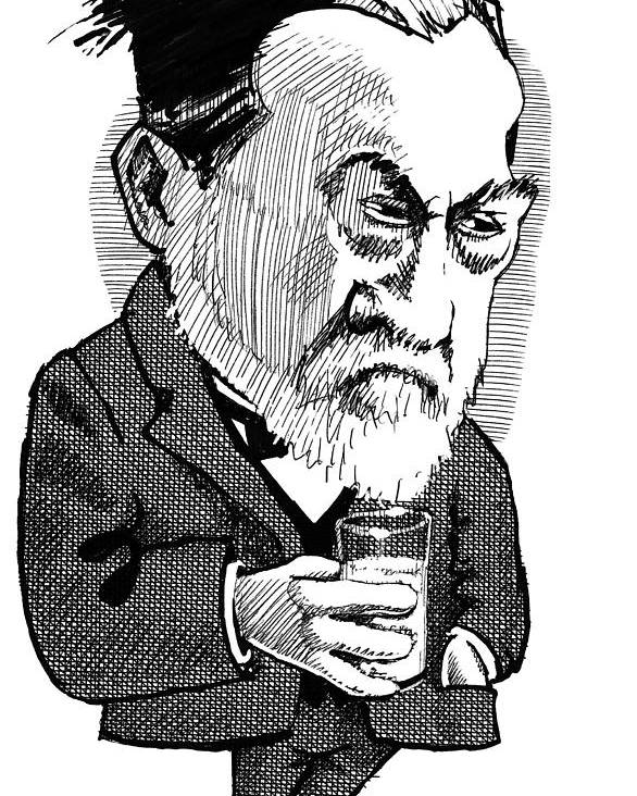 Louis Pasteur Poster featuring the photograph Louis Pasteur, Caricature by Gary Brown