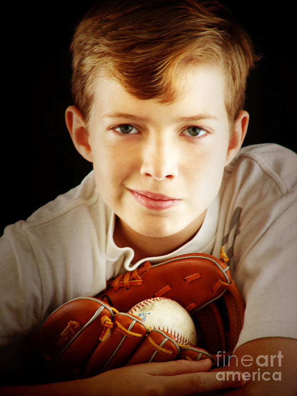 Baseball Poster featuring the photograph Love Baseball by Lj Lambert