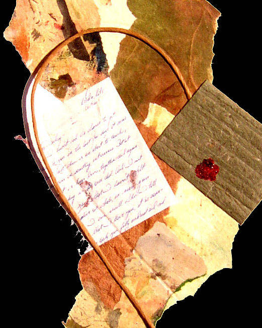 Love Poster featuring the mixed media Love Letters Seventeen by Phillip Jaeger