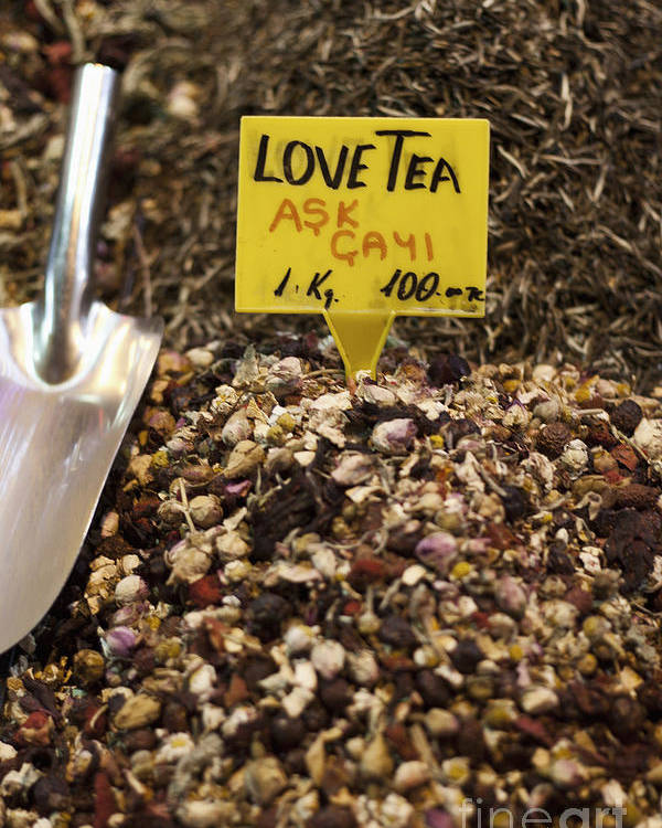 Love Poster featuring the photograph Love Tea by Leslie Leda
