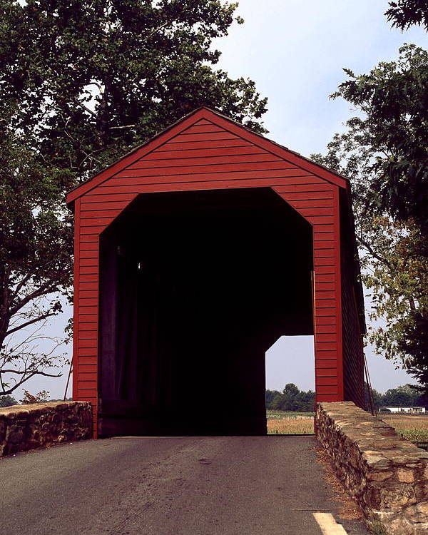 Loy's Station Covered Bridge Poster featuring the photograph Loy's Station Covered Bridge by Sally Weigand