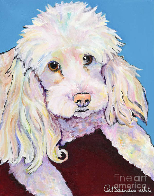 Dogs Poster featuring the painting Lucy by Pat Saunders-White