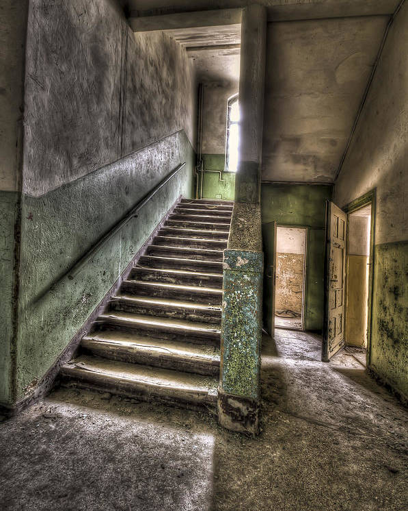 Room Poster featuring the photograph Lunatic Stairs by Nathan Wright
