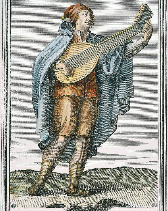 1723 Poster featuring the photograph Lute, 1723 by Granger
