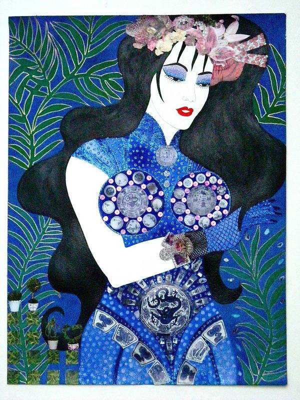 Asian Poster featuring the painting Ma Belle Salope Chinoise No.11 by Dulcie Dee