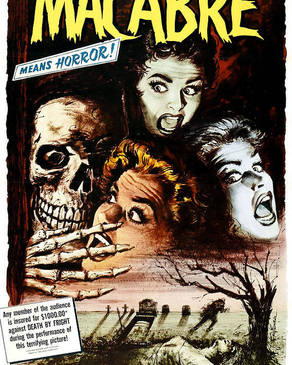 1950s Poster Art Poster featuring the photograph Macabre, 1958 by Everett
