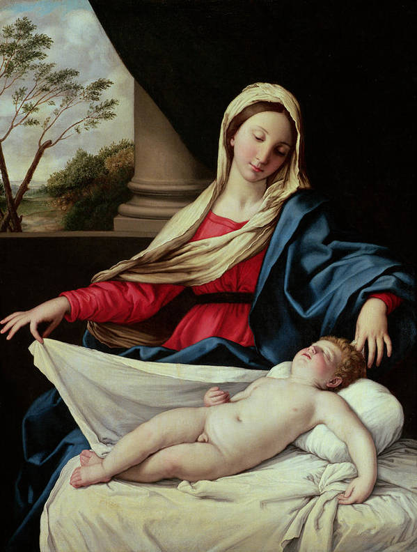 Madonna And Child Poster featuring the painting Madonna And Child by II Sassoferrato