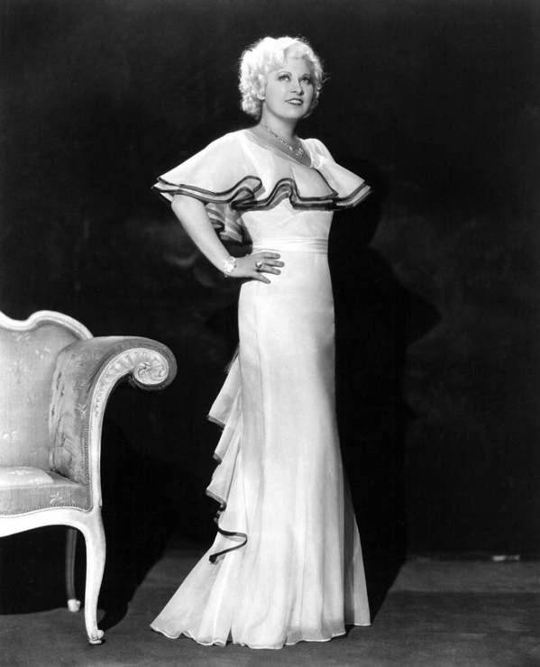 1930s Portraits Poster featuring the photograph Mae West, Ca. 1930s by Everett