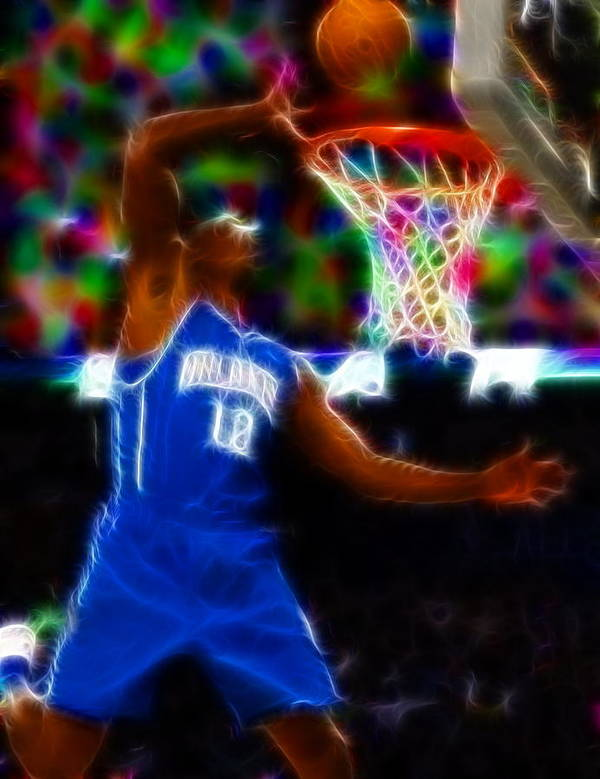 Dwight Howard Poster featuring the painting Magical Dwight Howard by Paul Van Scott