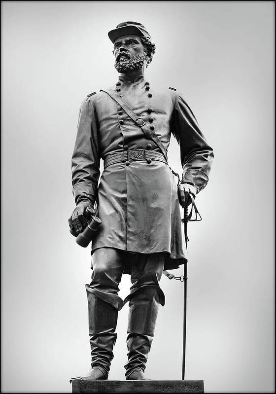 Army Of The Potomac Poster featuring the photograph Major General John Reynolds Statue At Gettysburg by Randy Steele