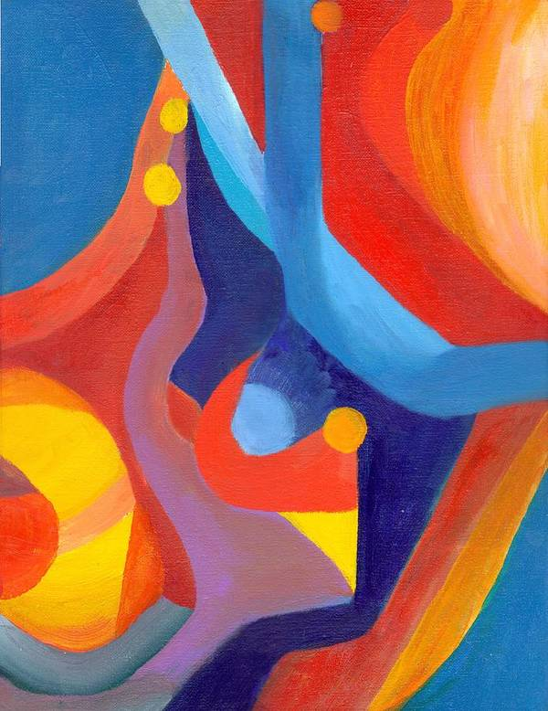Abstract Poster featuring the painting Making Sense by Peter Shor