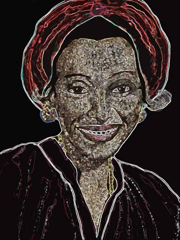 Mother Poster featuring the digital art Mama Nura by Duwayne Washington