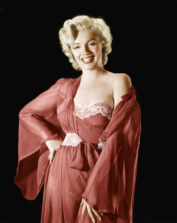 1950s Portraits Poster featuring the photograph Marilyn Monroe, 1950s by Everett