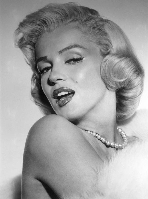 1950s Portraits Poster featuring the photograph Marilyn Monroe, Ca. Mid 1950s by Everett