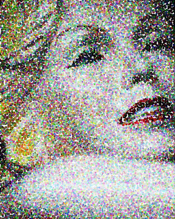 Abstract Poster featuring the photograph Marilyn Monroe by Cindy Whitehead