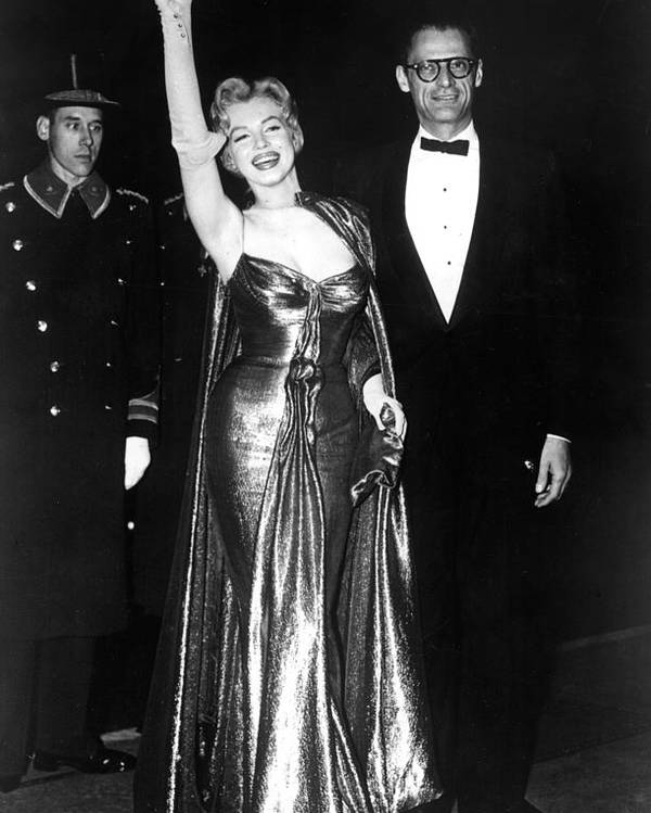 Candid Poster featuring the photograph Marilyn Monroe Waves To The Crowd by Everett