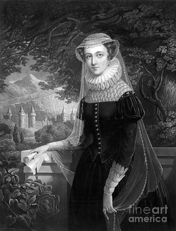 History Poster featuring the photograph Mary Queen Of Scots by Photo Researchers