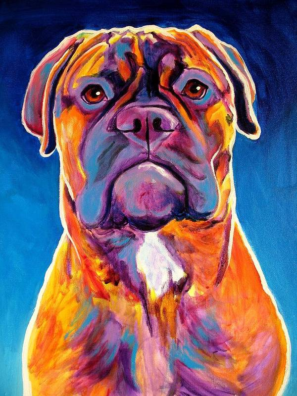 Dawgart Poster featuring the painting Bullmastiff - Lexi by Alicia VanNoy Call