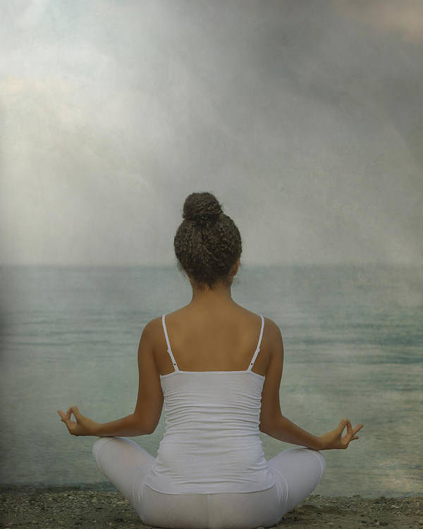 Female Poster featuring the photograph Meditation by Joana Kruse