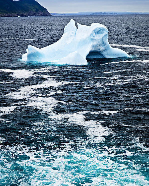 Iceberg Poster featuring the photograph Melting Iceberg by Elena Elisseeva